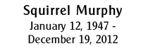 Squirrel Murphy